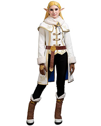 miccostumes Women's Princess Zelda Winter Outfit Cosplay Costume Set (S, Multicolored)