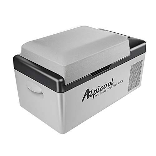 KKmoon 20L Nevera Portatil DC12 / 24V AC220V Refrigerador de Coche Congelador Compresor de Nevera Automático Control de Temperatura/Voltaje Ajustable de 3 Niveles/Digital para Camping Coche Hogar