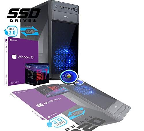 PC de sobremesa Gaming Intel I7 8th Gen SIX CORE i7-8700 de 3,2 a 4,6 GHz MB H310M HDMI DVI RAM 8 GB DDR4 HD SSD 480 GB...