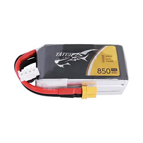 Tattu Batería Lipo 850mAh 11.1V 75C 3S Batería Lipo con conector XT30 para FPV racing quadcopter