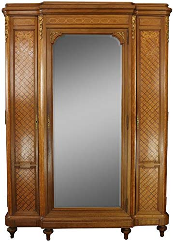 Best Price EuroLuxHome Armoire Louis XVI Antique French Mahogany Rosewood Inlay Satinwood Marquetry