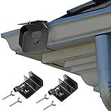 Gutter Mount for All-New Blink Outdoor & Blink XT / XT2 Camera, Adjustable Weatherproof Aluminum Alloy Mount Bracket for Blink Home Security System (2 Pack, Black)
