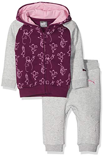 PUMA Kinder Tabaluga - Baby Jogger Trainingsanzug, Light Gray Heather, 56