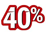 Oedim Vinilos para Escaparates Decoración Rebajas   Descuento del 40%   50x30cm   Vinilo Adhesivo   Decora tu escaparate   Pegatinas Adhesivas Escaparate   Vinilos para Negocios