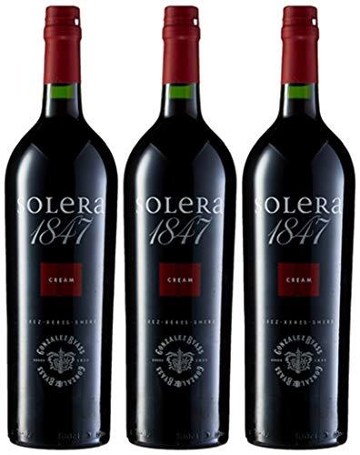 Solera 1847 Cream - Vino D.O. Jerez - 3 botellas 1000 ml - Total: 3000 ml