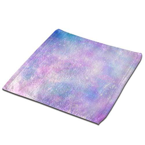 deyhfef Juego de 3 toallas de baño para baño, hotel, spa, cocina, multiusos con punta de dedos y paños faciales, 33 x 33 cm, fantasía, espacio azul