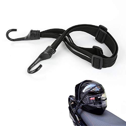 xiaoqun 23' Universal Motorcycle Helmet Luggage Rope Motorcycle Bungee Cord Bandage Retractable Elastic Strap with 2 Hooks Black