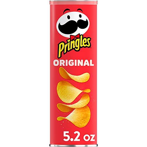 PringlesPotato Crisps Chips, Original Flavored, 5.2 oz Can
