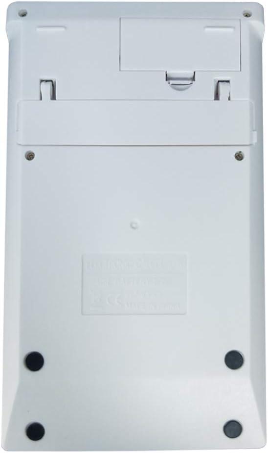 White SINLOOG 12 Digit Large Display Standard Function Elegant Design for Office//Home//School Solar /& Battery Dual Power Basic Calculator Desktop Calculator