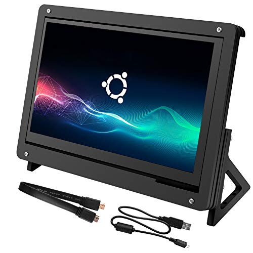 for Raspberry Pi 7 Inch IPS Capacitive Touch screen, kuman LCD Bildschirm HDMI Input 1024x600 IPS Display with Gehäuse Acrylic Case Holder SC7BC