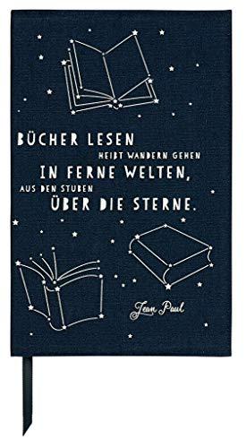 moses. Buchumschlag mit Lesebändchen | libri-x Buchhülle aus Baumwolle | Umschlag für die Lektüre | Über die Sterne | Größe L