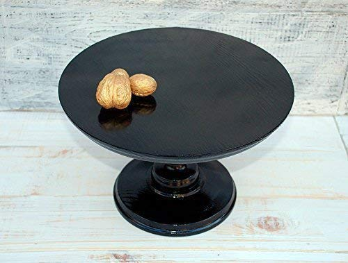 """ALL SIZES 8-18"""" inches Stand cake, wedding stand, holder cake stand made of wood, stand festive, big stand for cakes, unique stand, stand black, stand for classic cakes, round stand"""