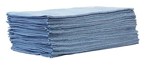 CLEANPRODUCTS Lot de 25 chiffons de polissage en microfibre bleu – Chiffon spécial en microfibre de très haute qualité (40 x 40 cm) – pour la préparation de voiture