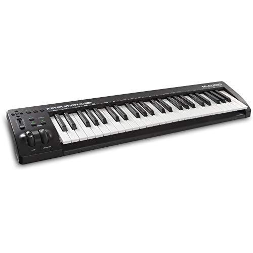 M-Audio Keystation 49 MKIII - Kompakter 49-Tasten MIDI Keyboard Controller mit zuweisbaren Reglern, Pitch/ Modulation Rädern, Plug-And-Play (Mac/PC) Konnektivität und Software Production Suite