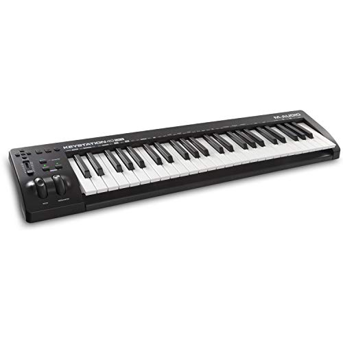 M-Audio Keystation 49 MKIII - Kompakter 49-Tasten MIDI Keyboard Controller mit zuweisbaren Reglern, Pitch/ Modulation Rädern, Plug-And-Play (Mac/PC) Konnektivität und Software Production Suite