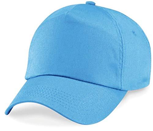 Basecap Cap 5 Panel Cap Verschluss Klettverschluss Größe Unisex, Farbe hellblau