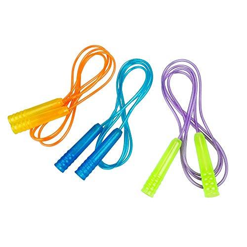 Outdoor Kinder 210cm Bunte Springseil mit Glitzereffekt, Sprungseil, Seilspringen, Hüpfseil, Rope - Spielzeug für Draußen