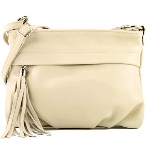 modamoda de - la bolsa italiana pequeña napa de cuero T32, Color:crema amarillento