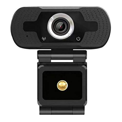 1080P HD Webcam Pc Laptop Desktop USB Webcams Cámara de computadora de Alta definición Free Drive Live Webcam (Negro)