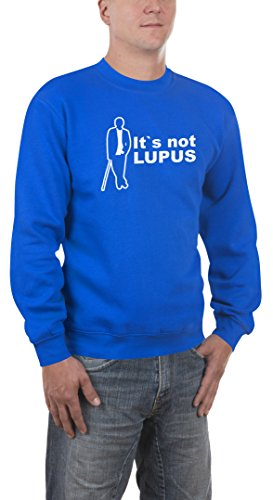Touchlines Herren Sweatshirt Dr. House - It`s not Lupus v2, royal, L, B3098