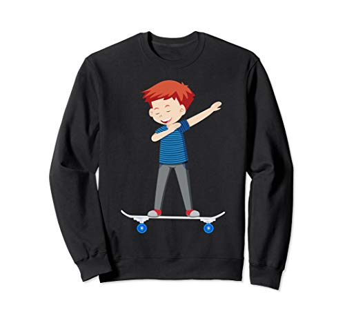 Skateboard Teen Boy auf Skateboard Geschenk für Skater Sweatshirt