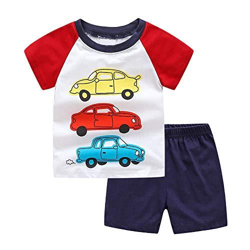 Pijamas Dos Piezas Bebe Niño, Morbuy Conjunto de Pijamas Niña Algodón Camisetas...