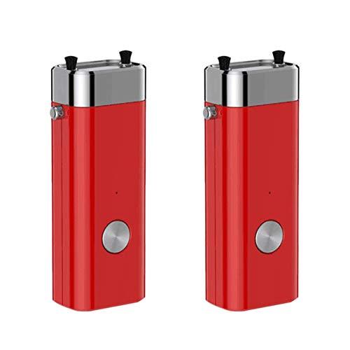 Tuneway 2Pcs Portable Negative Ion Air Purifier Necklace Pendant Student Children Necklace Air Purifier-Red