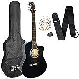 3rd Avenue Cutaway Acoustic Guitar Pack - Black
