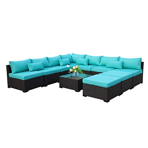 Rattaner 10 Piece Patio Sectional Furniture