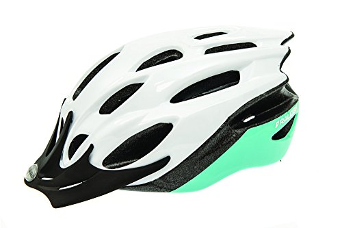 Raleigh CSH1133L Unisex White/Mint Mountain Bike Cycling Helmet 58-62 cm