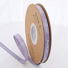 """DDDCM 10mm""""handgemaakte"""" gedrukt polyester lint met letter gedrukt lint for gift verpakking (Kleur : Just 10mm light purp,..."""