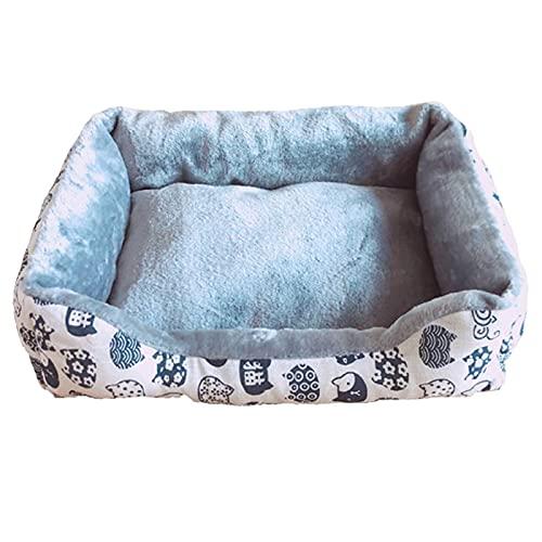 Phoeni Cama para perro y gato, impermeable, para canasta de perro, suave, cálida, suave, para perro, tamaño pequeño, mediano, grande, cojín para cachorros (Style3, xxL)