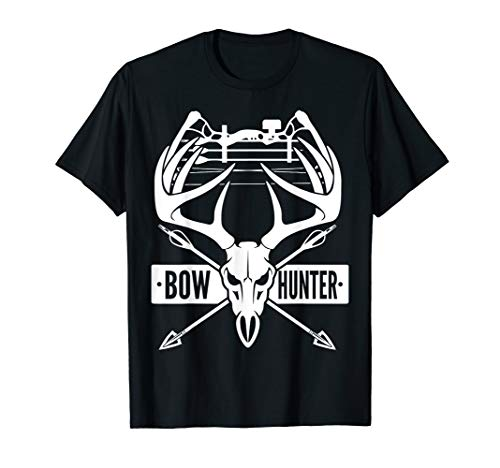 Bow Hunting Vintage Deer Skull and Compound Bow Archery Gift T-Shirt