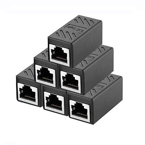 6 Stück RJ45 Ethernet Kabel Verbinder,Kupplung Netzwerk Verbinder Ethernet Koppler kompatibel mit Cat7 Cat6 Cat5 Cat5e für Netzwerkkabel,Ethernet Kabel,Patchkabel