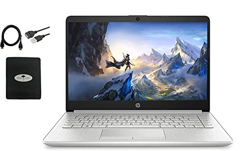 """2021 HP 14"""" HD Laptop for Business and Student, AMD Ryzen3 3250U (up to 3.5 GHz), 16GB RAM, 256GB SSD, Ethernet, USB-A&C, Webcam, WiFi, Bluetooth, HDMI, Fast Charge, Win10 S, w/Ghost Manta Accessories"""