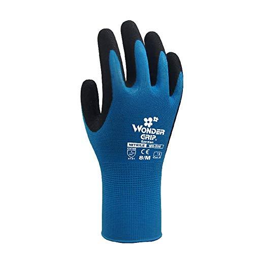 Difan Guantes de jardín antipinchazos y anticortes resistentes al desgaste y antiestiramiento guantes protectores para cultivo de jardín, azul