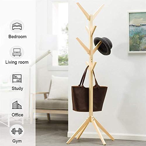 Massief Houten Hanger vloerstaande Kapstokken 8 Hooks Home Meubels Opslag Kleren Opknoping Houten Hanger Bedroom Droogrek