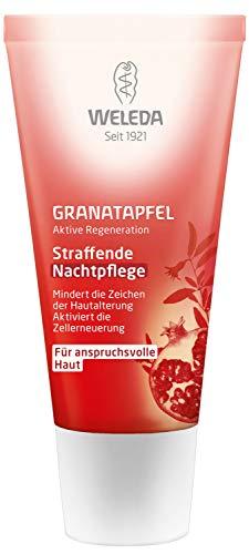 WELEDA Granatapfel straffende Nachtpflege, reichhaltige Naturkosmetik Hautcreme mit aufbauenden...
