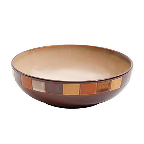 Gibson Elite Casa Estebana 10 Inch Reactive Glaze Serving Bowl, Brown