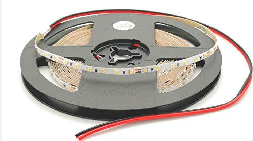 Rouleau de 5 mètres ruban 600 LED 2216 SMD lumière unie au choix 5 m 24 V DC PCB étroit 4 mm avec adhésif double face CRI 95+ Modèle premium (2700 K lumière chaude (Warm White)