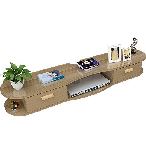 Axdwfd Drijvende Planken Wandmontage Set-top Box Plank, Drijvende TV Kabinet TV Beugel DVD Video Beugel Met Open Opslag Plank TV Console 3 Size