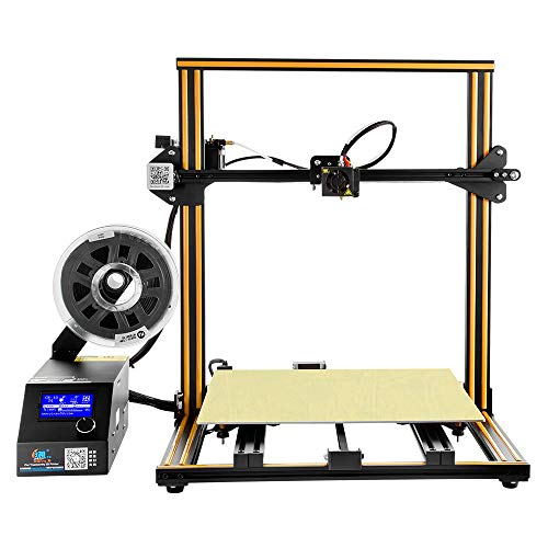 Creality 3D Printer CR-10 S4 with Working Surface 400x400x400m, 200 Hours Continuous Printing, UpdatedCreality CR-10 S4 3D Printer with Dual Z Axis and Filament Detection Sensor by MKK - Orange