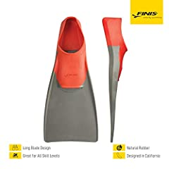 Color-coded by size, check the size chart before purchasing The long blade is designed to increase leg strength and speed Adds power to your kick and builds leg strength Buoyancy from the fins lifts legs to the surface, making it easier for swimmers ...