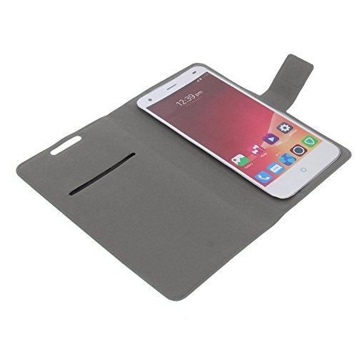 foto-kontor Tasche für ZTE Blade VEC 3G Blade VEC 4G Blade S6 Book Style Ultra-dünn Schutz Hülle Buch schwarz