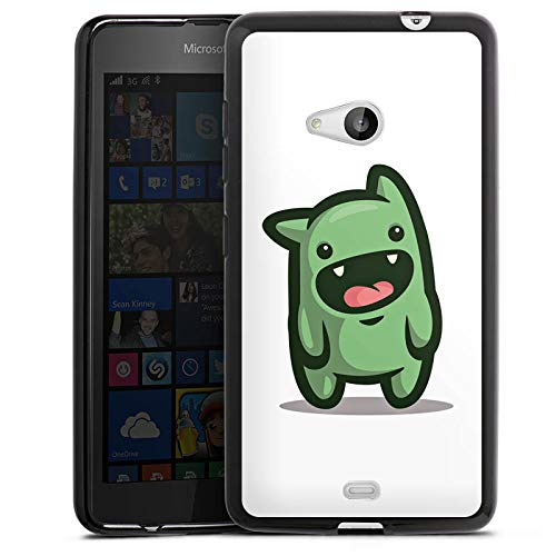 DeinDesign Silikon Hülle kompatibel mit Microsoft Lumia 535 Dual SIM Hülle schwarz Handyhülle Unge YouTube Youtuber