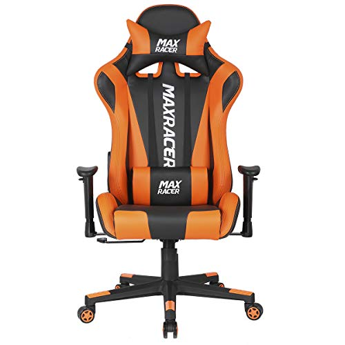 Cadeira Gamer MaxRacer Skilled Laranja