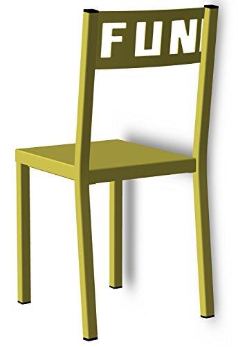 Styl'Métal 21 Lot 2 chaises Fun métal Vert anis