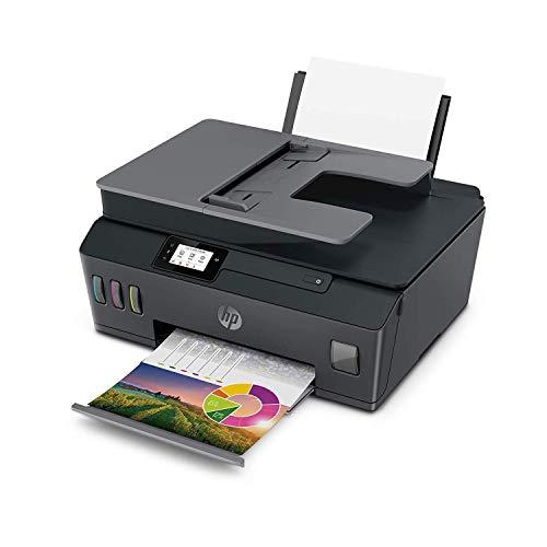 HP Smart Tank Plus 570 Stampante Multifunzione con Serbatoio a Getto di Inchiostro, Scanner, Fotocopiatrice, ADF, Velocità 11 ppm Nero e 5 ppm Colori, Wi-Fi, Wi-Fi Direct, App HP Smart, USB, Nero