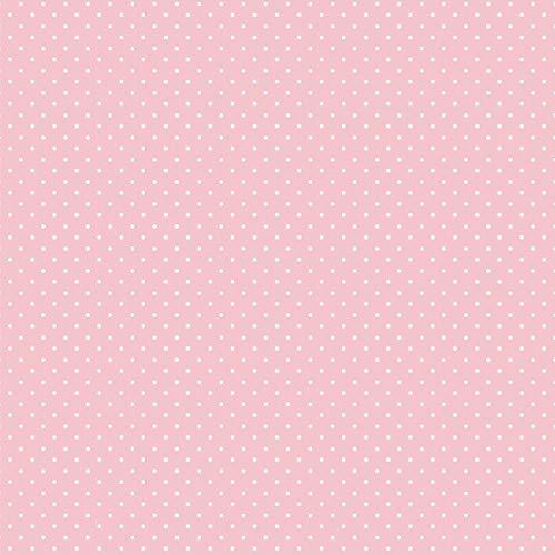 babrause® Baumwollstoff Pünktchen Rosa Webware Meterware Popeline OEKOTEX 150cm breit - Ab 0,5 Meter