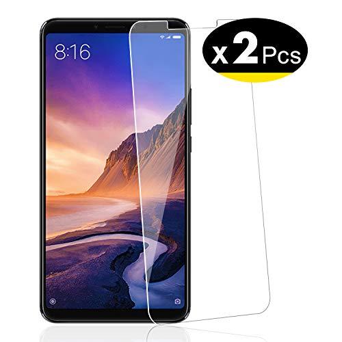 NEW'C 2 Unidades, Protector de Pantalla para Xiaomi MAX 3, Antiarañazos, Antihuellas, Sin Burbujas, Dureza 9H, 0.33 mm Ultra Transparente, Vidrio Templado Ultra Resistente